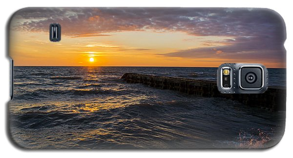 Galaxy S5 Case featuring the photograph Sunrise Lake Michigan August 8th 2013 005 by Michael  Bennett