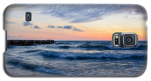 Galaxy S5 Case featuring the photograph Sunrise Lake Michigan August 8th 2013  by Michael  Bennett