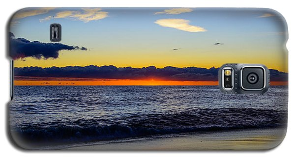 Galaxy S5 Case featuring the photograph Sunrise Lake Michigan September 14th 2013 012 by Michael  Bennett