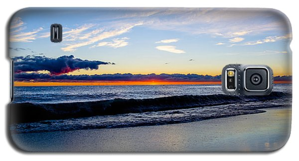 Galaxy S5 Case featuring the photograph Sunrise Lake Michigan September 14th 2013 013 by Michael  Bennett