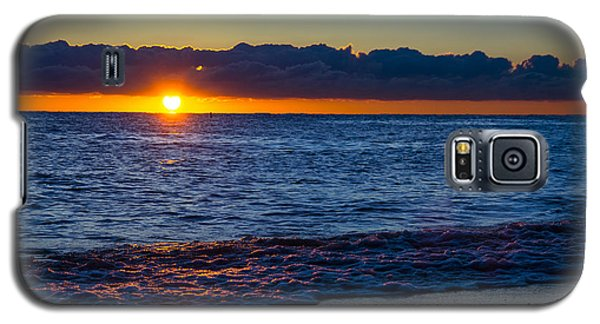Galaxy S5 Case featuring the photograph Sunrise Lake Michigan September 14th 2013 016 by Michael  Bennett