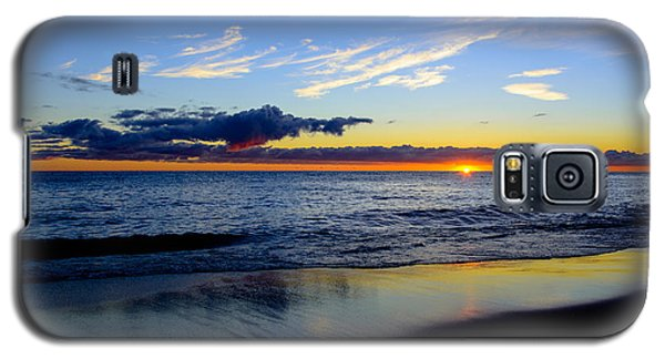 Galaxy S5 Case featuring the photograph Sunrise Lake Michigan September 14th 2013 017 by Michael  Bennett
