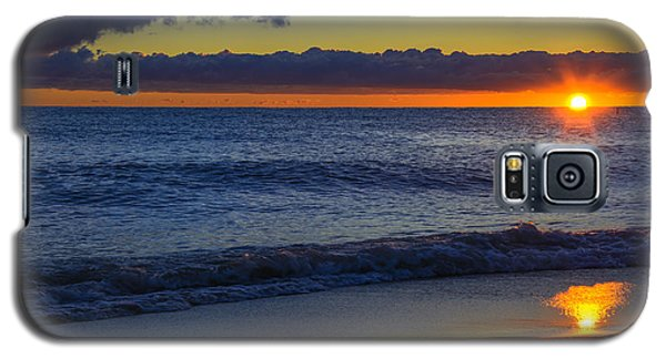 Galaxy S5 Case featuring the photograph Sunrise Lake Michigan September 14th 2013 020 by Michael  Bennett