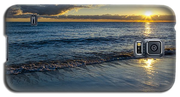 Galaxy S5 Case featuring the photograph Sunrise Lake Michigan September 14th 2013 023 by Michael  Bennett