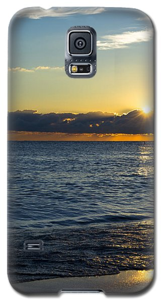 Galaxy S5 Case featuring the photograph Sunrise Lake Michigan September 14th 2013 025 by Michael  Bennett