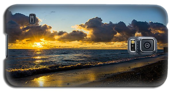 Galaxy S5 Case featuring the photograph Sunrise Lake Michigan September 2nd 2013 004 by Michael  Bennett
