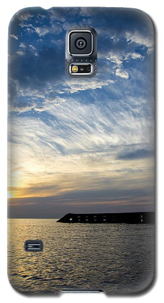 Galaxy S5 Case featuring the photograph Sunrise Lake Michigan September 7th 2013  by Michael  Bennett