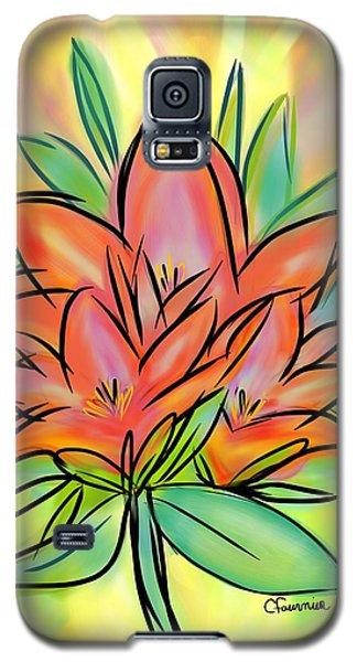 Sunrise Lily Galaxy S5 Case by Christine Fournier