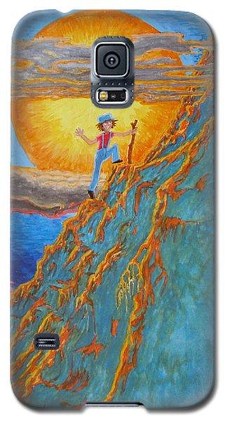 Galaxy S5 Case featuring the painting Sunrise by Matt Konar