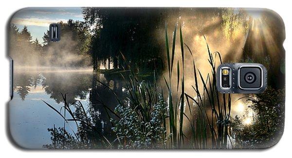 Sunrise Mist At A Marsh Galaxy S5 Case
