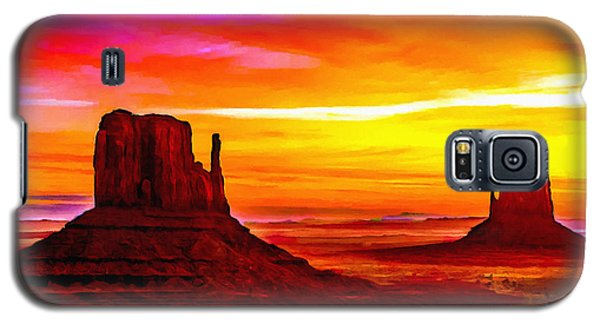 Sunrise Monument Valley Mittens Galaxy S5 Case