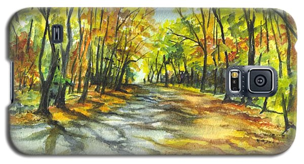 Sunrise On A Shady Autumn Lane Galaxy S5 Case