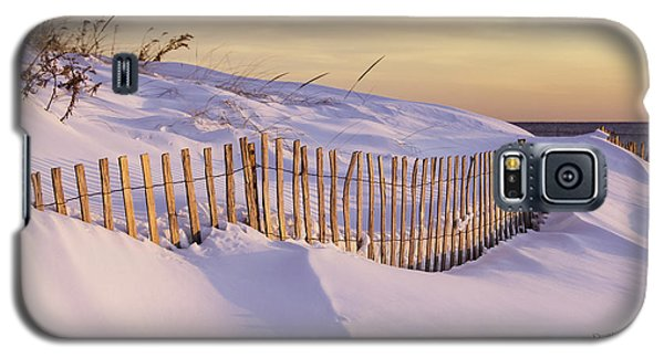 Sunrise On Beach Fence Galaxy S5 Case by Betty Denise