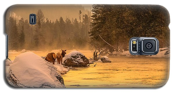 Galaxy S5 Case featuring the photograph Sunrise On Madison River by Yeates Photography