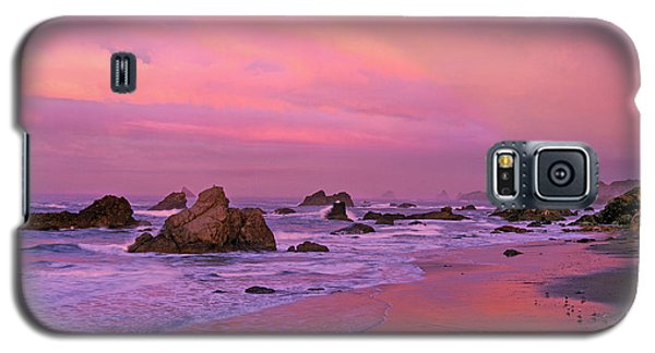 Galaxy S5 Case featuring the photograph Sunrise On Sea Stacks Harris Sb Oregon by Dave Welling