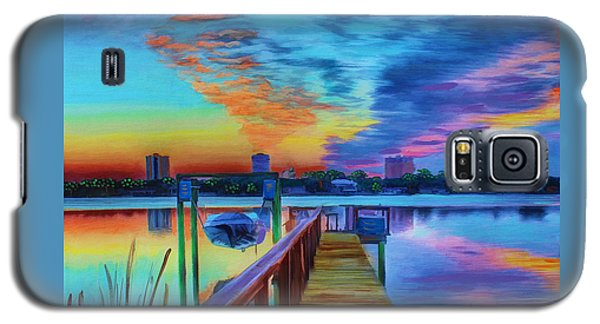 Sunrise On The Dock Galaxy S5 Case