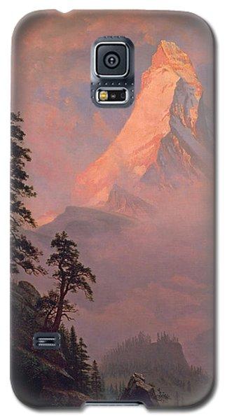 Sunrise On The Matterhorn Galaxy S5 Case by Albert Bierstadt