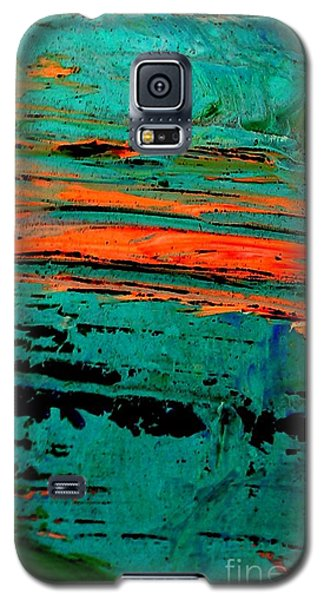 Galaxy S5 Case featuring the painting Sunrise On The Water by Jacqueline McReynolds
