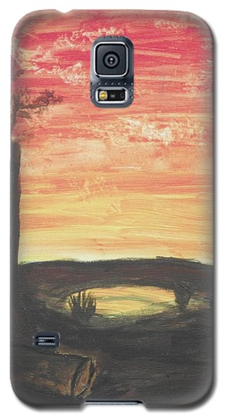 Galaxy S5 Case featuring the painting Sunrise Or Sunset by Martin Blakeley