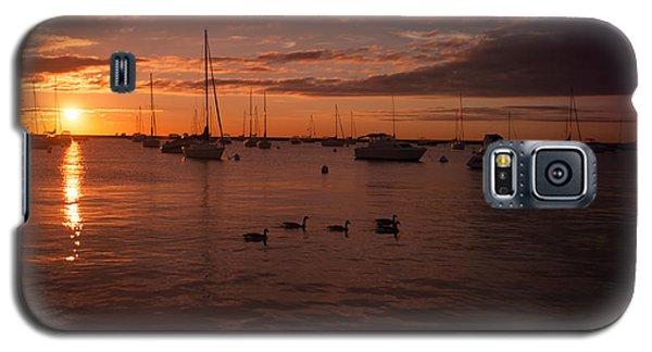 Sunrise Over Lake Michigan Galaxy S5 Case