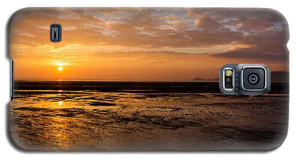 Sunrise Over Mumbles Mudflats Galaxy S5 Case