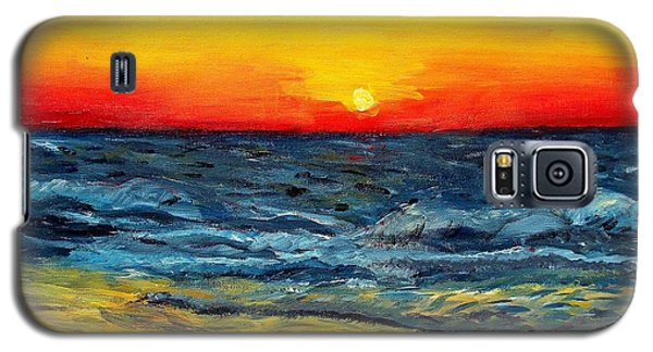 Galaxy S5 Case featuring the painting Sunrise Over Paradise by Shana Rowe Jackson