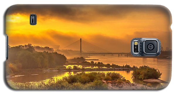 Sunrise Over Swiatokrzyski Bridge In Warsaw Galaxy S5 Case