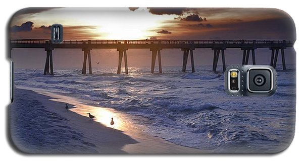 Sunrise Over The Pier Galaxy S5 Case