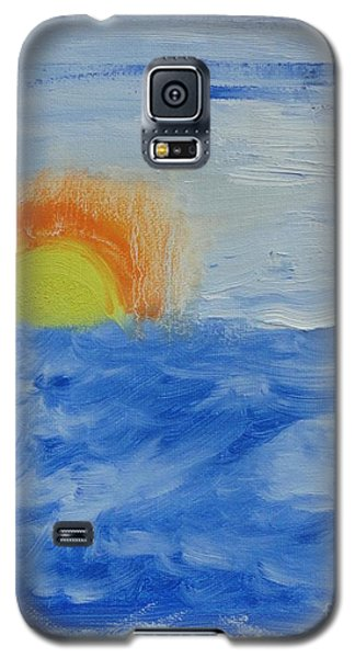 Galaxy S5 Case featuring the painting Sunrise by PainterArtist FINs daughter
