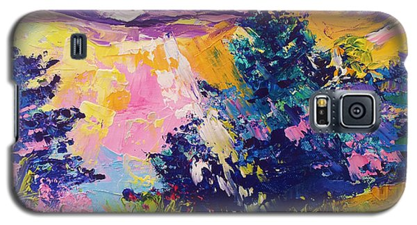 Sunrise Painting Oil On Canvas Ekaterina Chernova Galaxy S5 Case