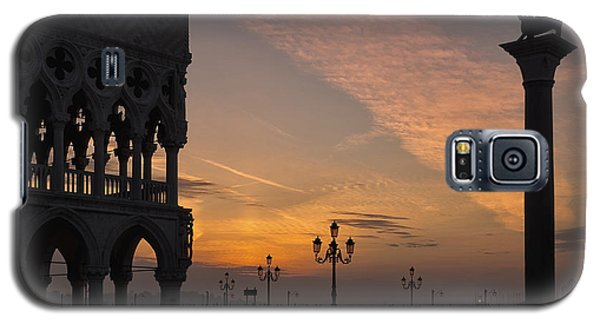 Galaxy S5 Case featuring the photograph Sunrise St Mark's Square by Marion Galt