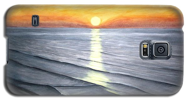 Galaxy S5 Case featuring the painting Sunrise by Stacy C Bottoms