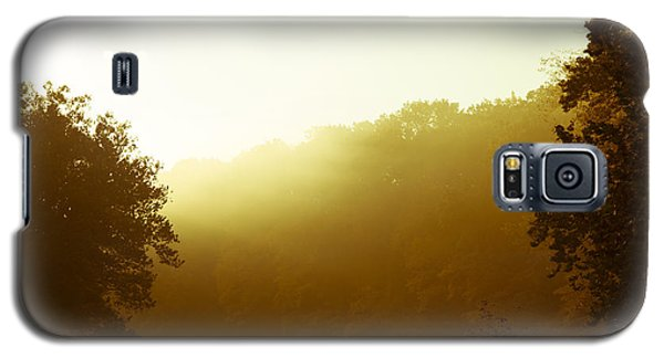 Galaxy S5 Case featuring the photograph Sunrise Thru The Fog by Phil Abrams