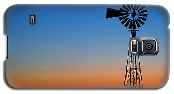 Galaxy S5 Case featuring the photograph Sunrise Windmill by Steven Reed