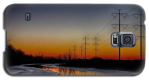 Galaxy S5 Case featuring the photograph Sunrise Winter Reflection by Jerome Lynch