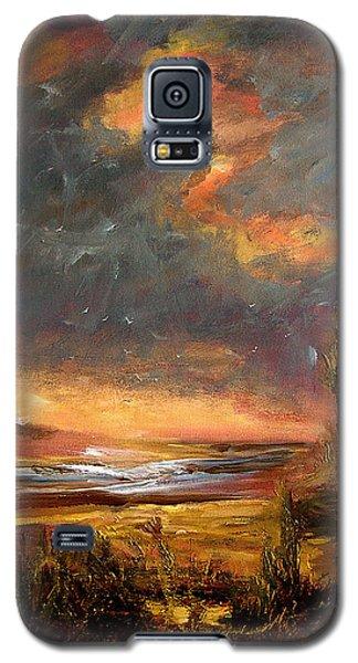 Sunrise With Birds  Galaxy S5 Case