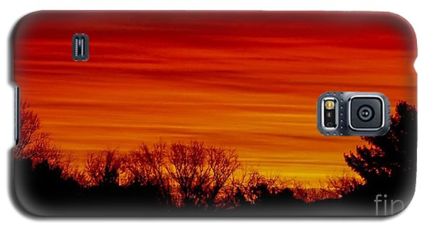 Galaxy S5 Case featuring the photograph Sunrise Y-town by Angela J Wright