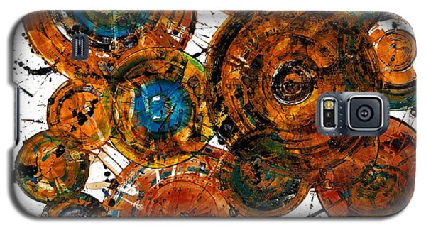 Galaxy S5 Case featuring the painting Sunset - 1274.121412 by Kris Haas