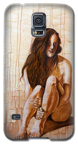 Galaxy S5 Case featuring the painting Sunset 2of4 by Denise Deiloh