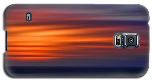 Sunset Abstract Galaxy S5 Case by Clare VanderVeen
