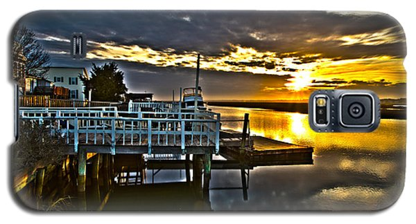 Sunset Across The Inlet Galaxy S5 Case