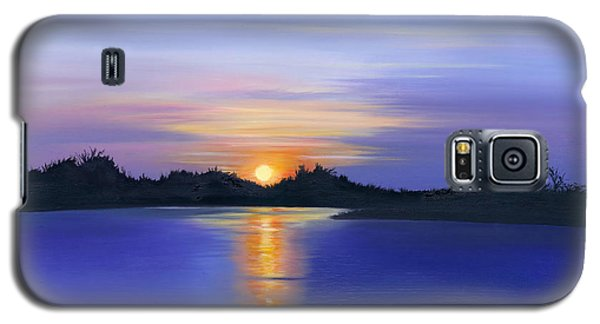 Sunset Across The River Galaxy S5 Case