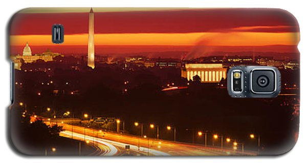 Sunset, Aerial, Washington Dc, District Galaxy S5 Case by Panoramic Images