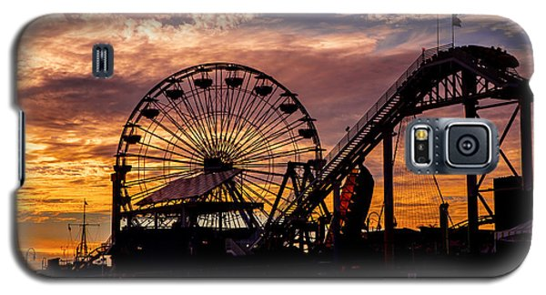 Sunset Amusement Park Farris Wheel On The Pier Fine Art Photography Print Galaxy S5 Case