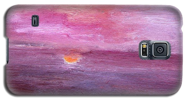 Galaxy S5 Case featuring the painting Sunset And Ocean by Vadim Levin