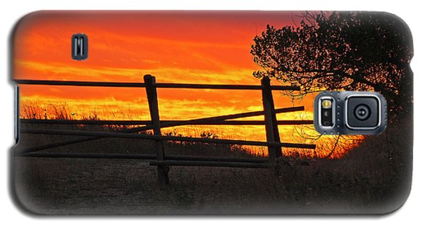 Galaxy S5 Case featuring the photograph Sunset At Bear Butte by Mary Carol Story