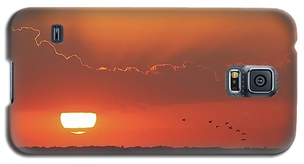 Sunset At Cheyenne Bottoms Galaxy S5 Case