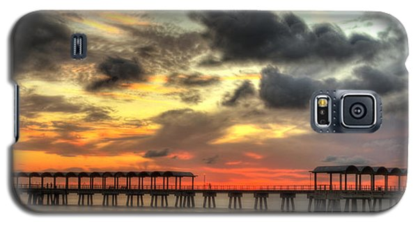 Sunset At Clam Creek Fishing Pier Galaxy S5 Case
