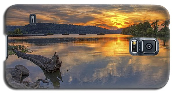 Sunset At Cook's Landing - Arkansas River Galaxy S5 Case