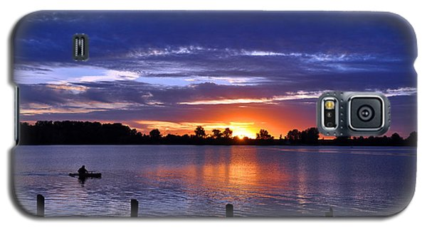 Sunset At Creve Coeur Park Galaxy S5 Case by Matthew Chapman